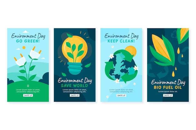 手描きの世界環境デーのinstagramストーリーコレクション