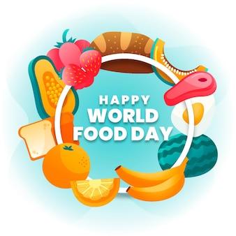 손으로 그린 세계 음식의 날 개념