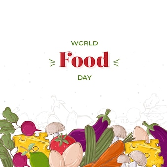 Hand drawn world food day concept