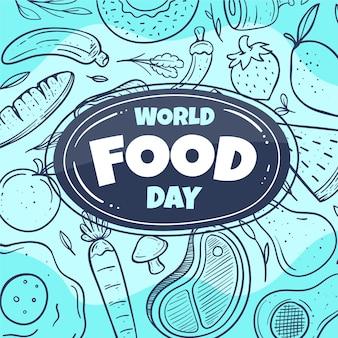 Рисованный стиль всемирного дня еды