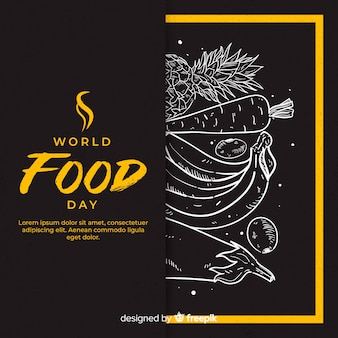 Hand drawn world food day
