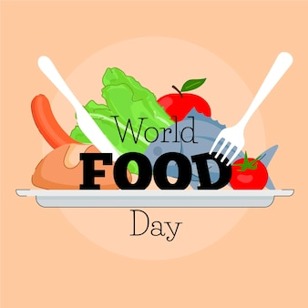 손으로 그린 세계 음식의 날