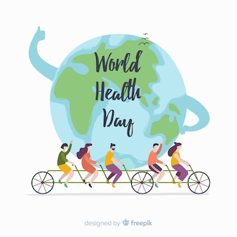 Hand drawn world health day background