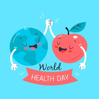 Hand drawn world health day concept