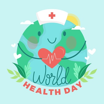 Hand-drawn world health day design