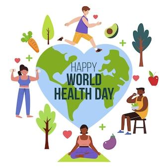 손으로 그린 세계 보건의 날 그림