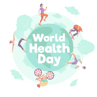 Hand drawn world health day illustration