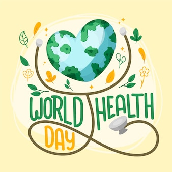 Hand-drawn world health day theme