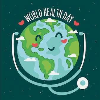 Hand drawn world health day