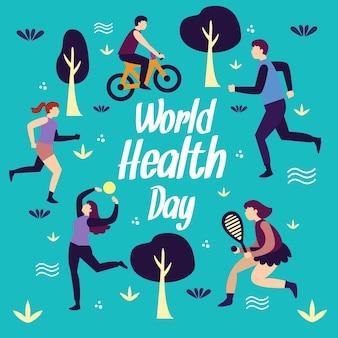 Hand drawn world health day