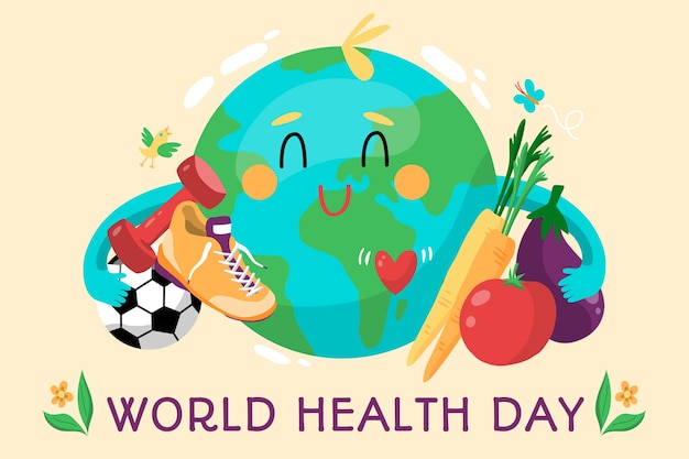 Hand-drawn world health day