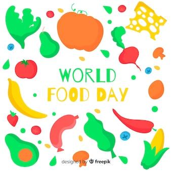 Hand drawn world healthy food day