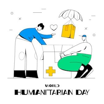 手描きの世界人道デーのイラスト