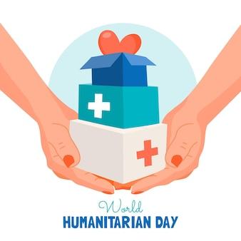 Нарисованная рукой иллюстрация всемирного гуманитарного дня