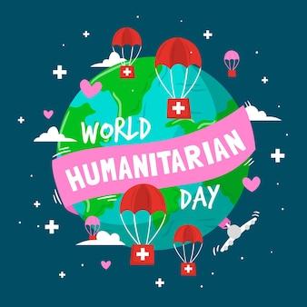 Hand drawn world humanitarian day