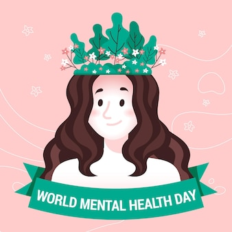 Hand drawn world mental health day concept