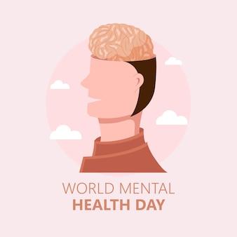 손으로 그린 세계 정신 건강의 날