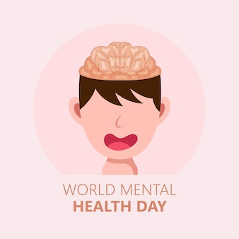 Hand drawn world mental health day