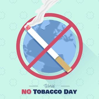 Hand drawn world no tobacco day illustration