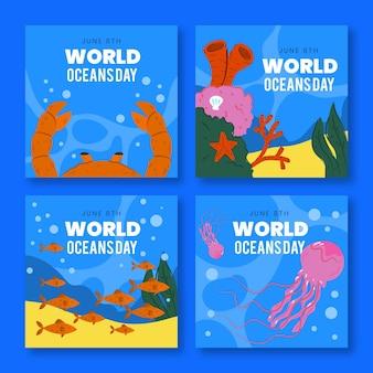 손으로 그린 세계 바다의 날 instagram 게시물 모음