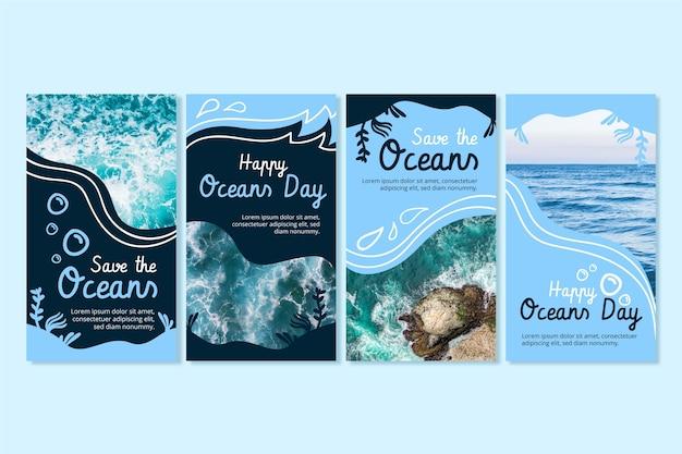 손으로 그린 세계 바다의 날 instagram 이야기 모음