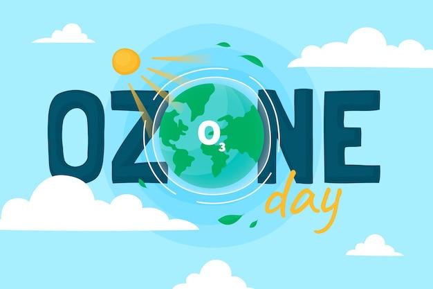 손으로 그린 세계 오존의 날 배경