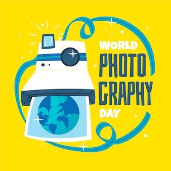 手描きの世界写真の日