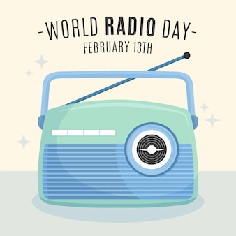 Hand drawn world radio day
