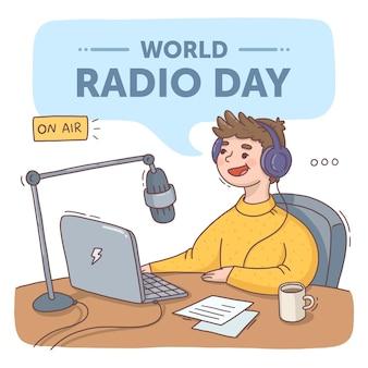 手描きの世界ラジオの日