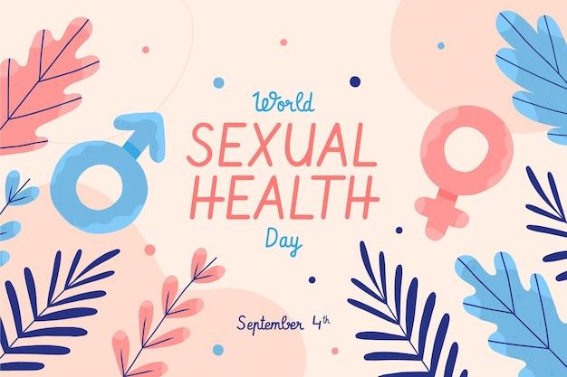 手描きの世界の性の健康の日の背景