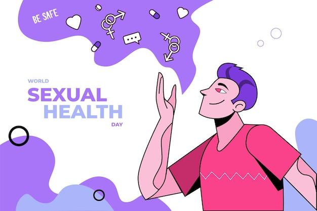 Ручной обращается всемирный день сексуального здоровья фон