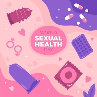 手描きの世界の性の健康の日のイラスト