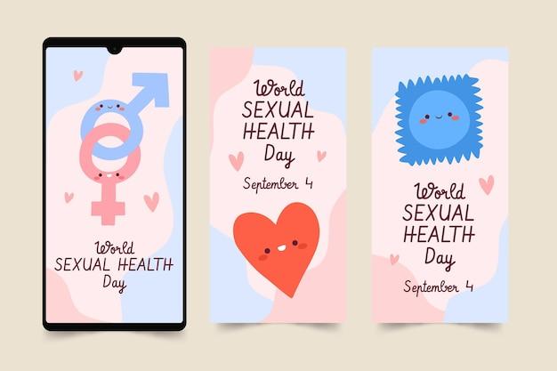 Коллекция историй instagram всемирного дня сексуального здоровья