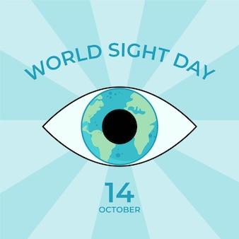 Sfondo della giornata mondiale della vista disegnata a mano