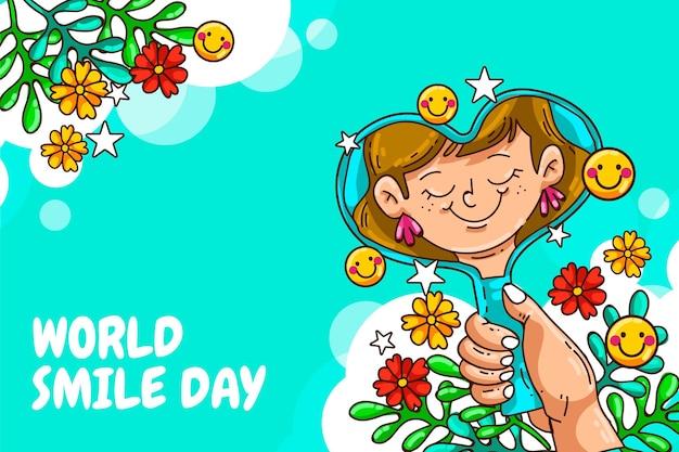 Hand drawn world smile day illustration