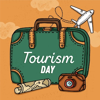 Hand-drawn world tourism day