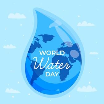 手描きの世界水の日イベント