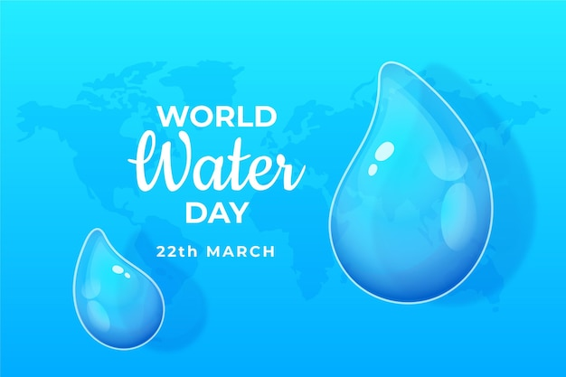 Hand drawn world water day
