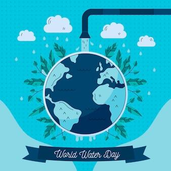 手描きの世界水の日