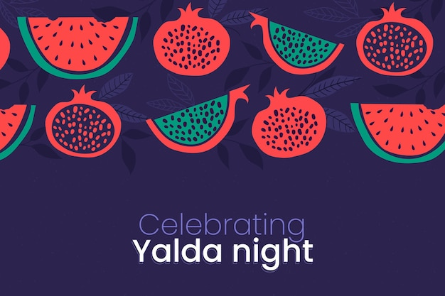 Hand drawn yalda background