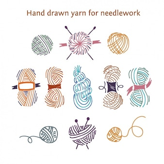 Hand drawn yarn for needlework