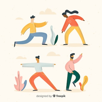 Hand Drawn Yoga Activities
