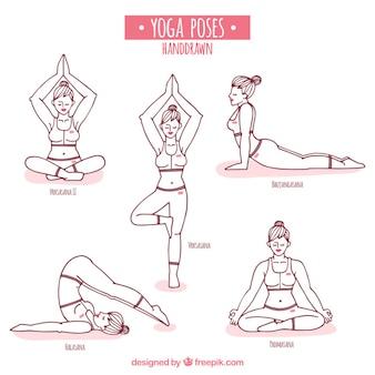 Ручной обращается позы йоги