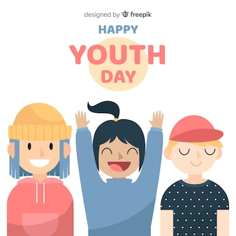 Hand drawn youth day background