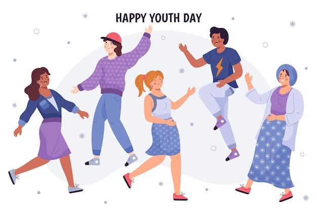 手描きの若者の日のコンセプト