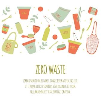 Hand drawn zero waste background