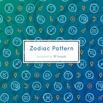 Hand drawn zodiac pattern