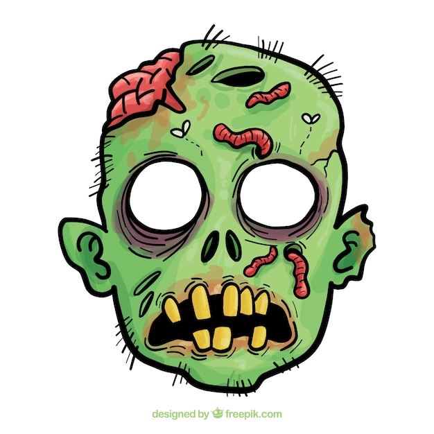 zombie vectors photos and psd files free download rh freepik com free clipart zombie foot free halloween zombie clipart