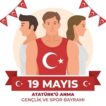 Турецкое празднование дня ататюрка, молодежи и спорта