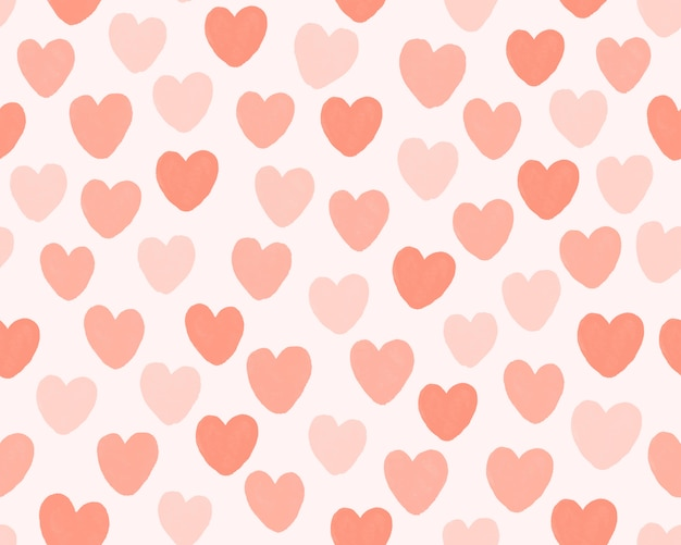 Hand draws mini heart pattern background.